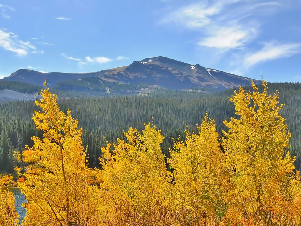 Fall colors are popping at Bear Lake in the Flat Tops Wilderness Area.