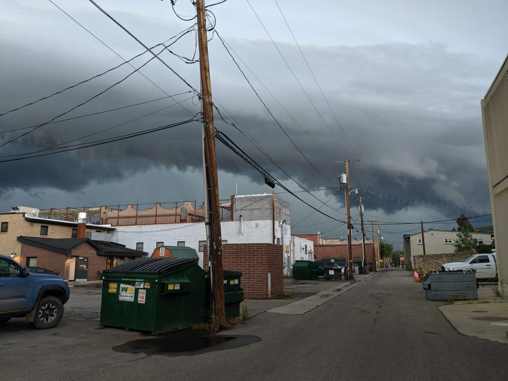 Storm wall cloud