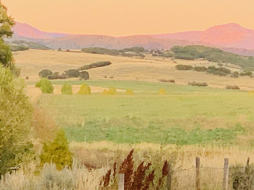 Fall Alpenglow near Marabou in Steamboat Springs