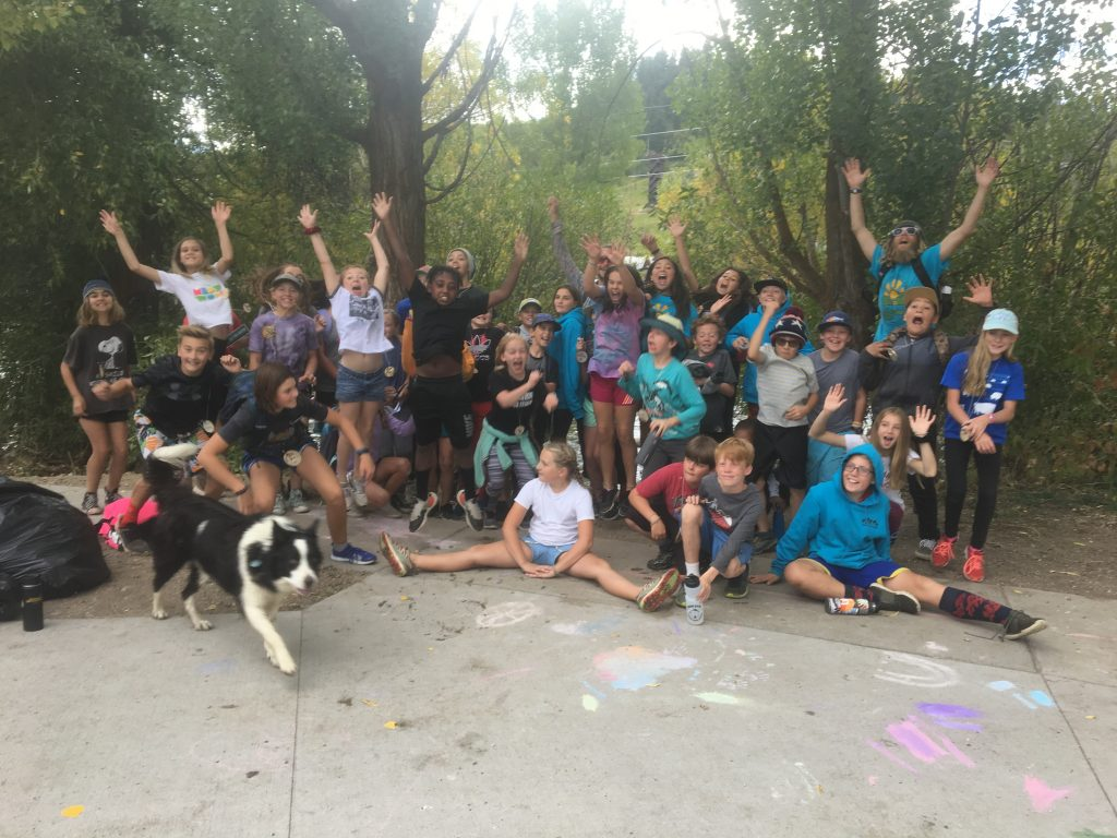 Students from Yampa Valley Science School and members of Friends of the Yampa clean up the river as part of River Clean Up Day on Sept. 20.