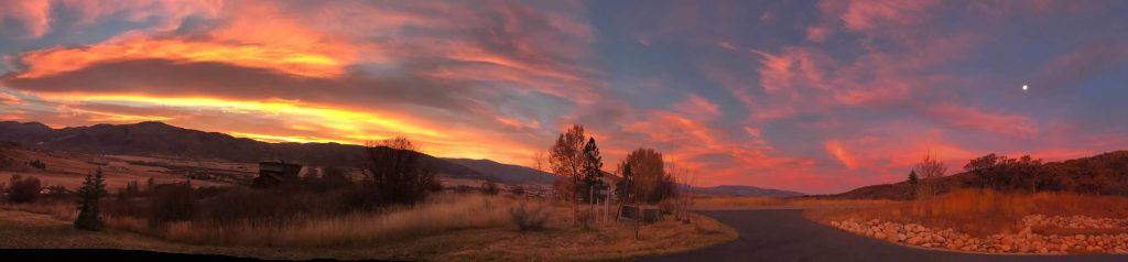 A panorama of the sunrise from Country Green.