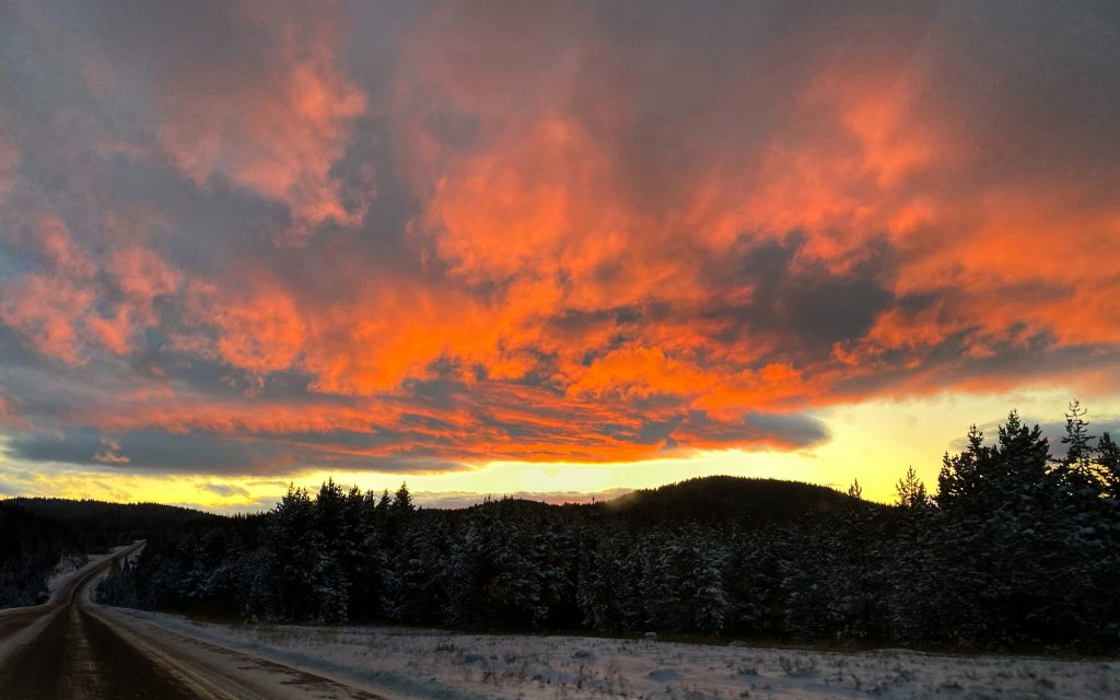 Fire in the sky over Rabbit Ears Pass