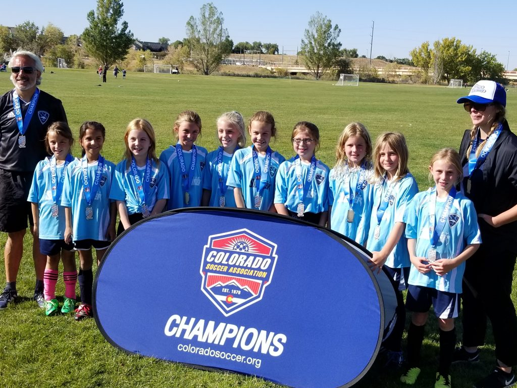 The U-9/10 Girls Academy soccer team from the Steamboat Soccer Club won the Colorado Soccer Association Target United Tournament in Denver last weekend. Coached by Sara Stout and Joey Rind, they won the final game by a score of 2-0 to take the tournament crown. The team is comprised of Zanah Rind, Darcy Scherff-Zamora, Charlotte Fleming, Kaycie Butts, Claire Montgomery, Peyton Bender, Maren Sachs, Dylan Godley, Ruby Libin and McKenzie Maines.