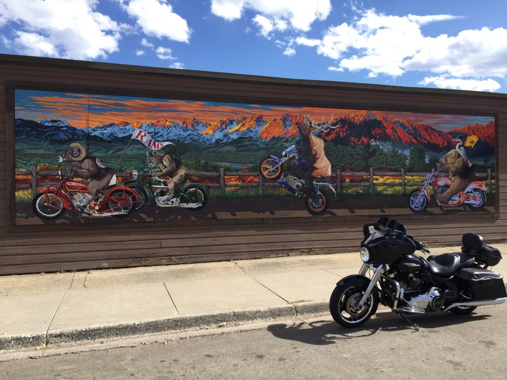 Curt Merchant shares a photo of a motorcycle mural.