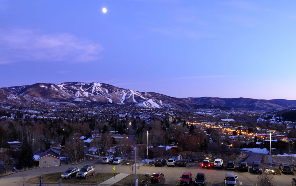 Moon over Steamboat from CMC.