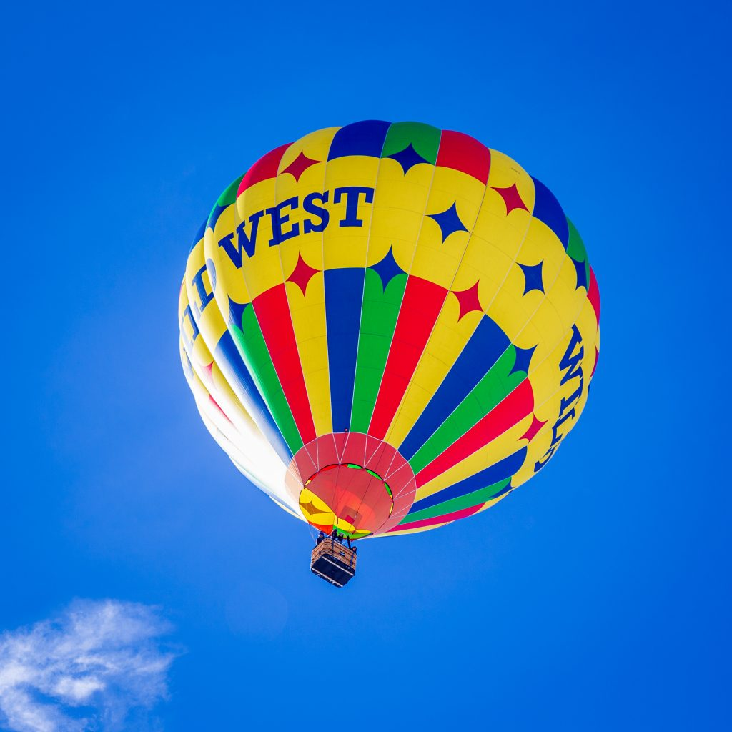 The Wild West hot air balloon was not stopped by cold weather.