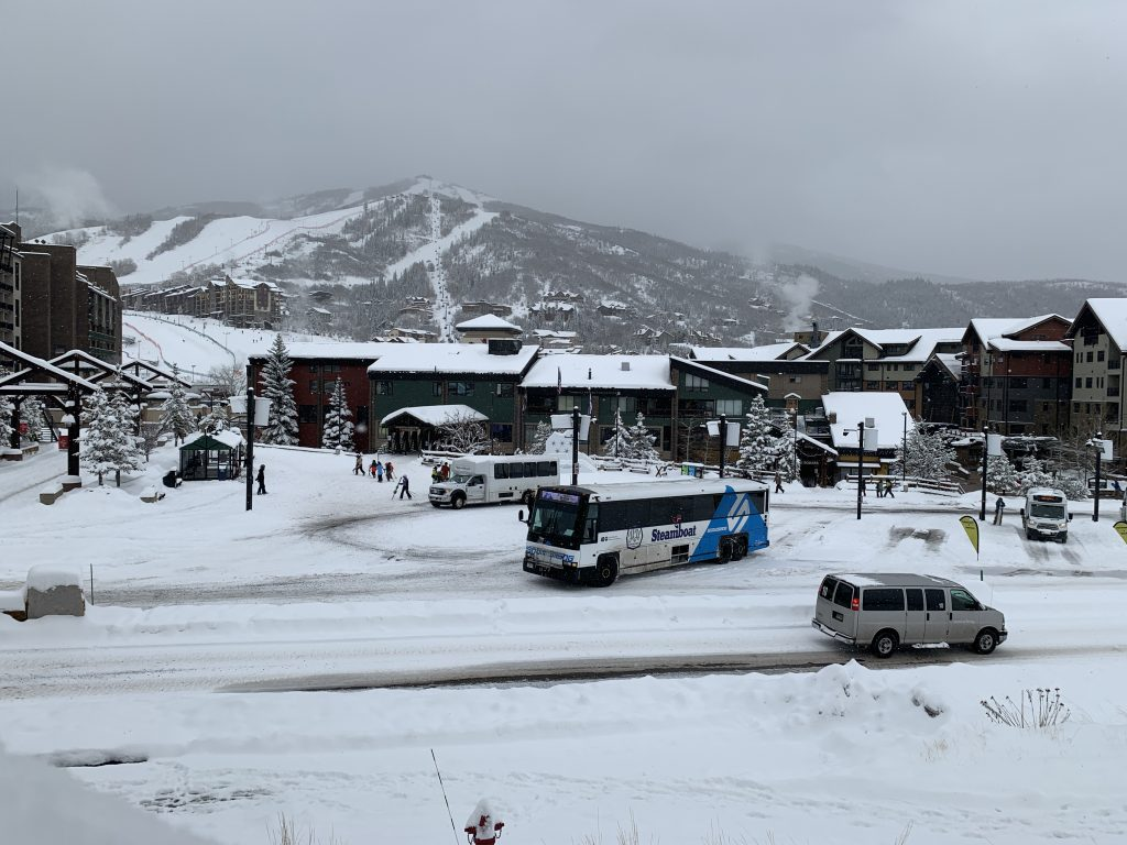 The Snowstang arrives in Steamboat Springs.