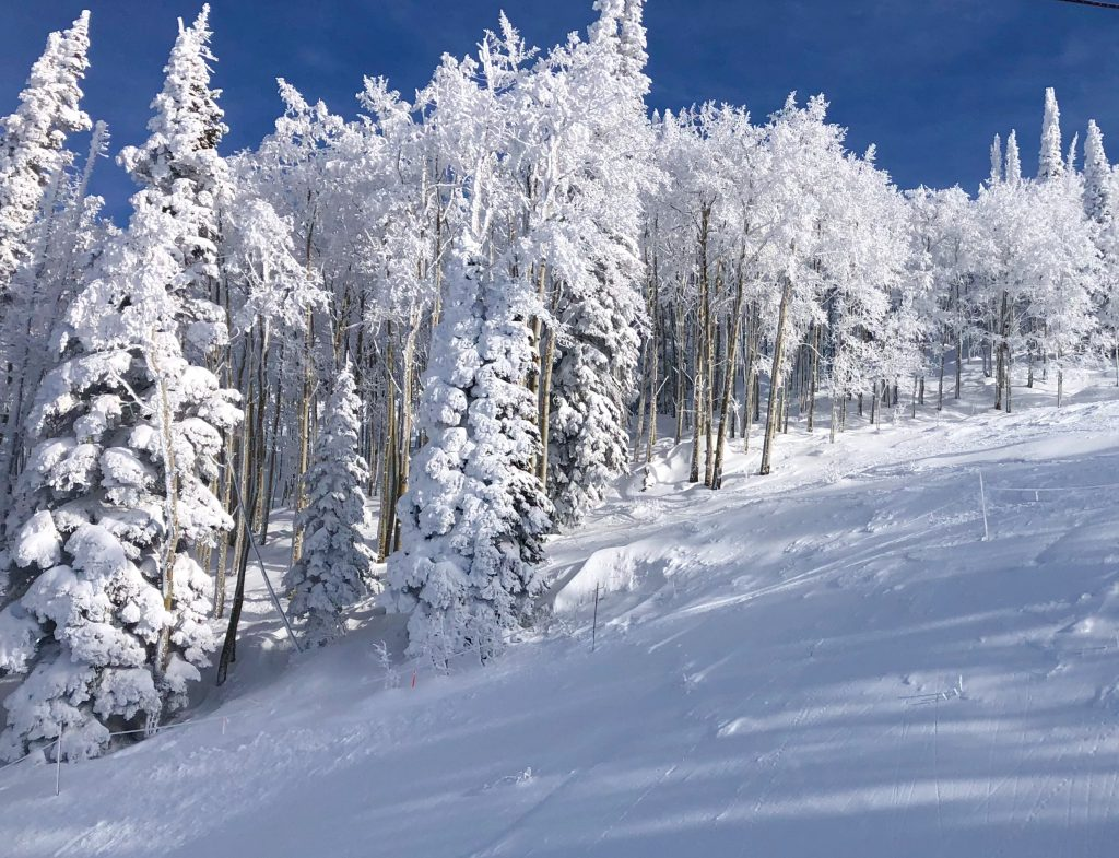 Sunday was a bluebird day at Steamboat Resort.