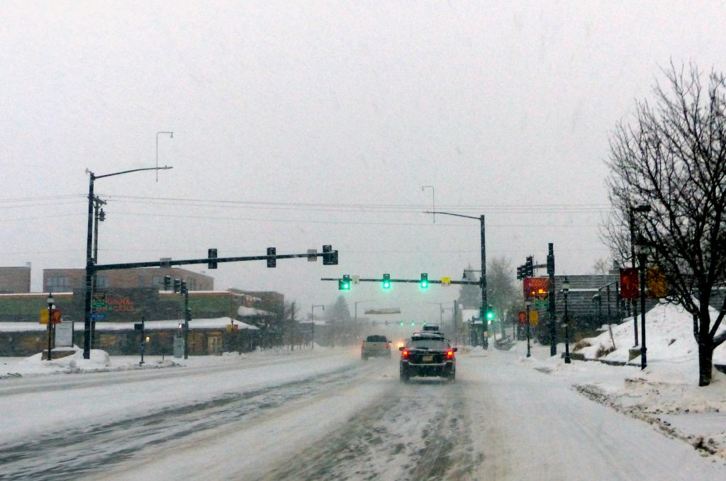 Heavy snow arrives in Steamboat on the first day of 2020.