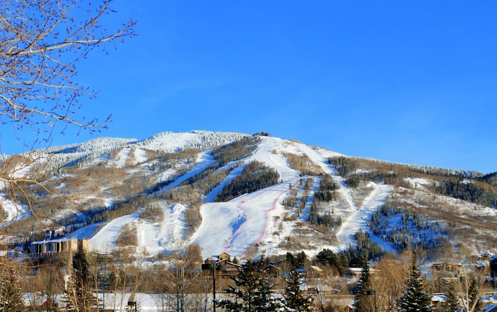 It was a bluebird day in Steamboat on Thursday.