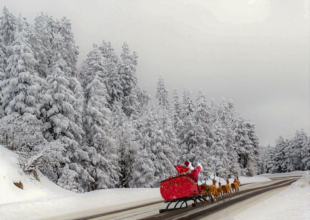 Anyone see Santa out in Steamboat today?