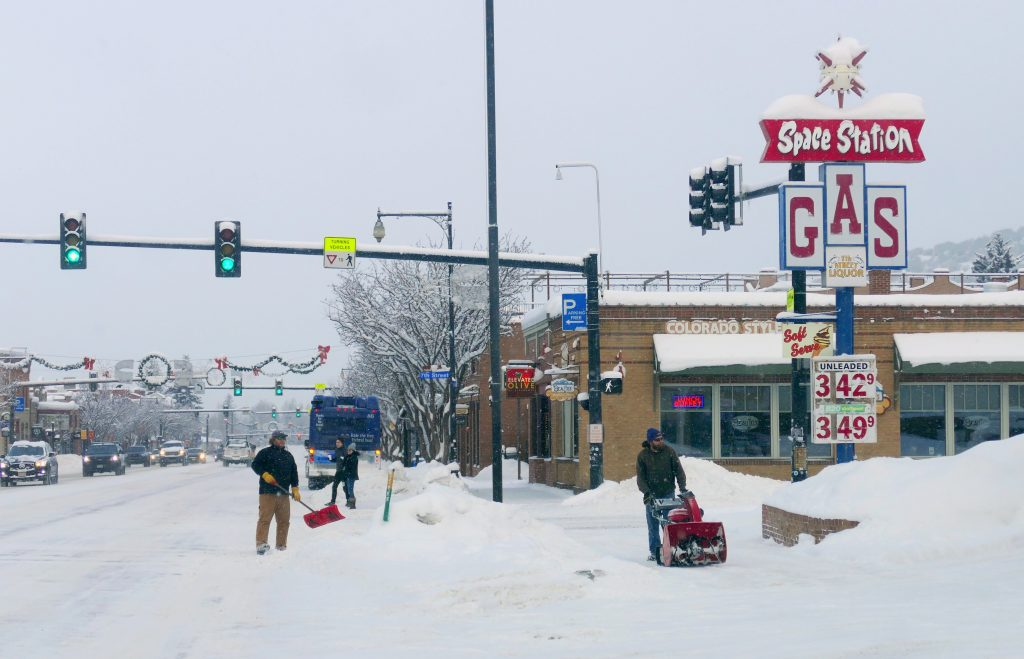 Sunday was a snowy day in Steamboat Springs.