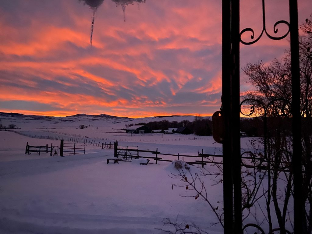 Routt County sunrise