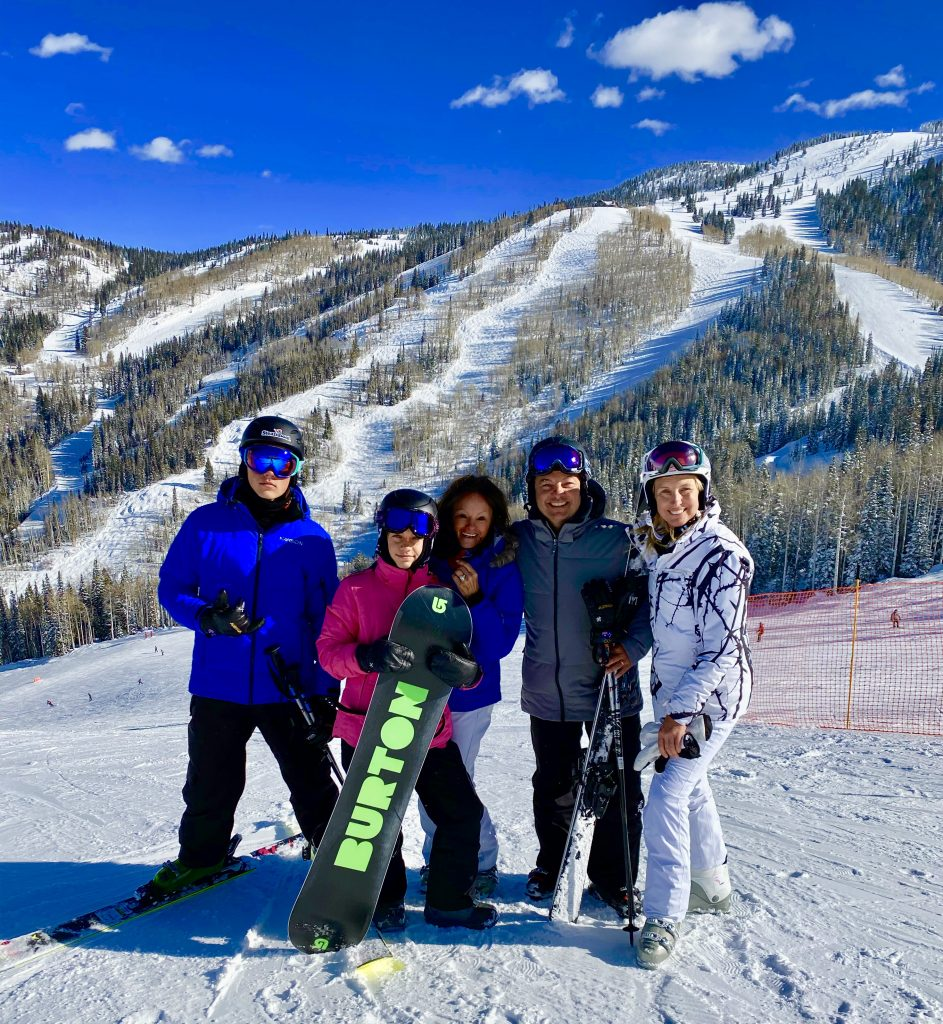 Australian family loving Steamboat Springs. Three generations skiing together and have been coming here for 30 years.