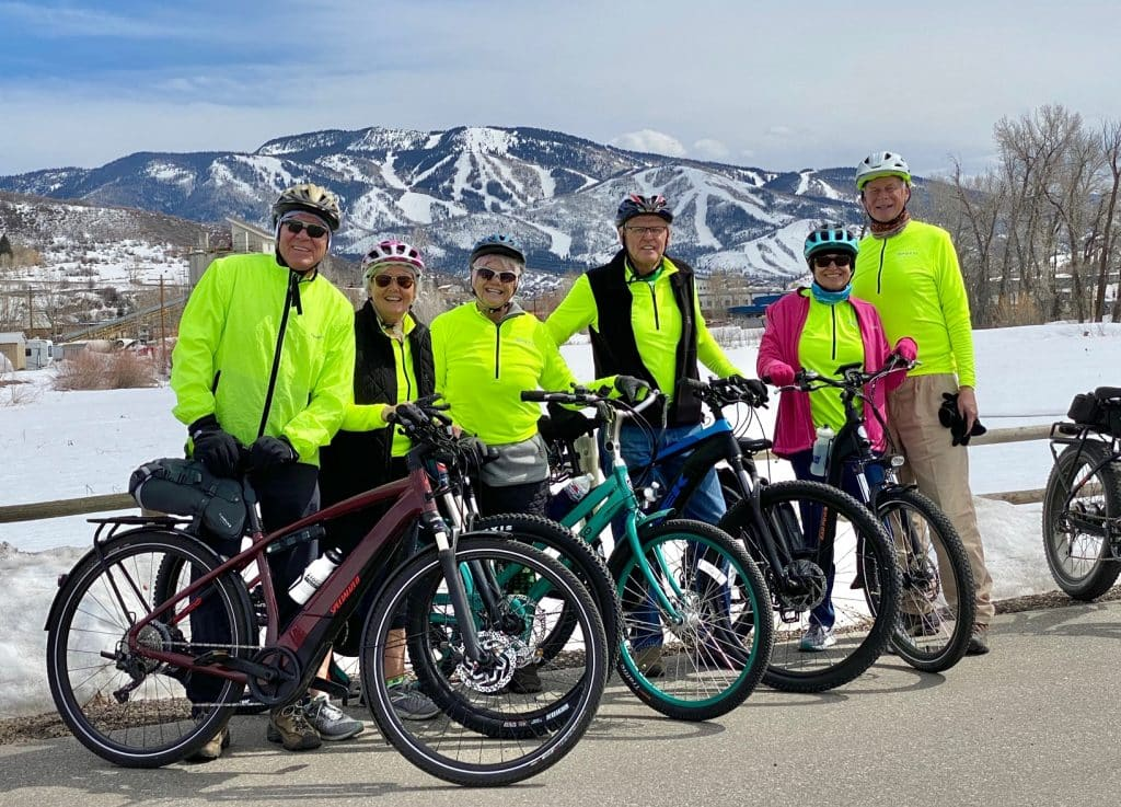 Our local SEBA Steamboat Ebike Adventurers cruised the core trail yesterday
