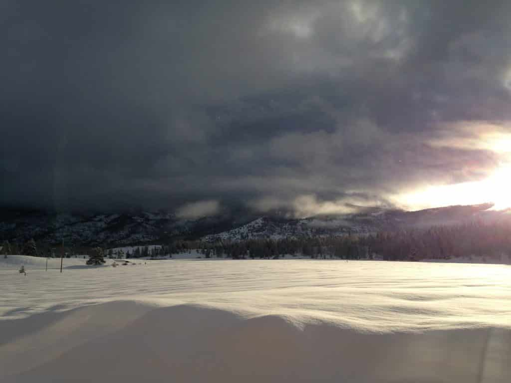 The silver lining breaks through over South Routt County.