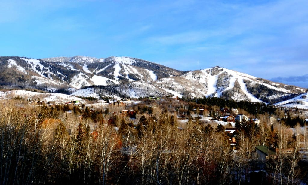 Here's a pretty shot of the quiet ski slopes at Steamboat Springs.