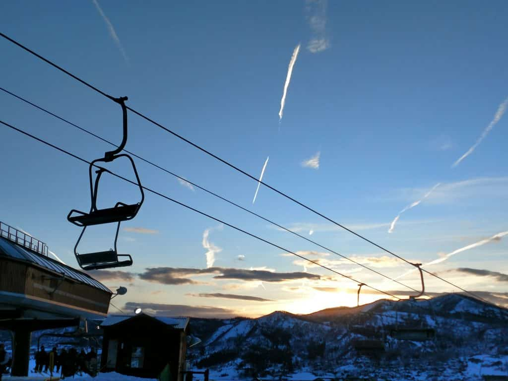 Last chair at Steamboat Resort.