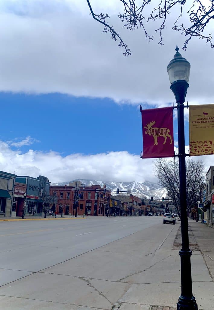 Friday afternoon is looking a little different these days, downtown Steamboat feels more peaceful then ever.