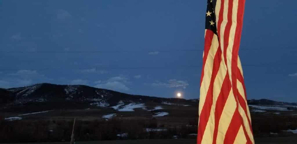 Pink Moon over Steamboat