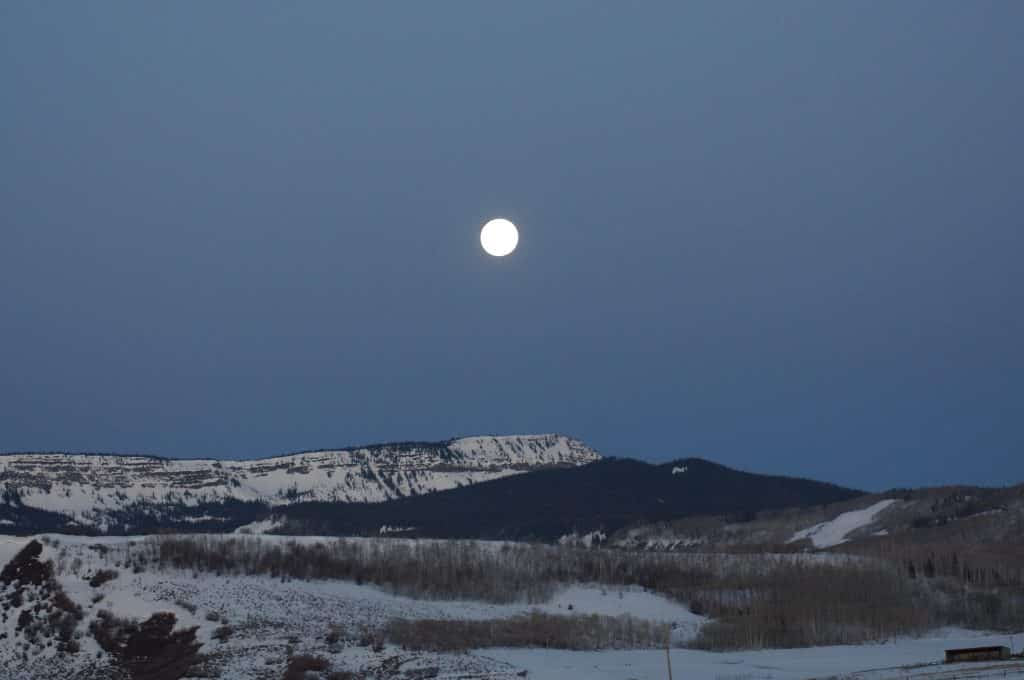 Super Pink Moon in Routt County.