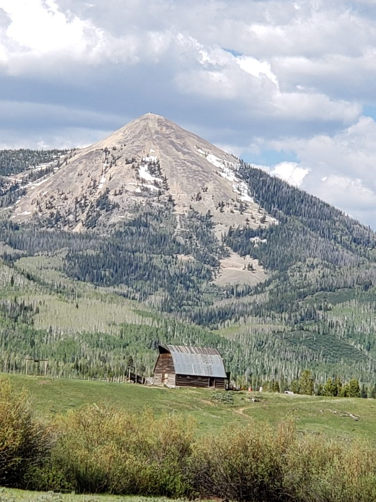 Fetcher Barn and Hahn's Peak