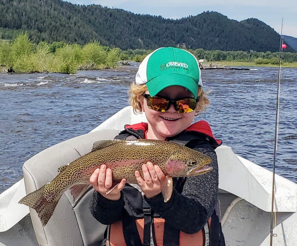 Jack Coates, age 6, on the Yampa June 2, 1st trout ever