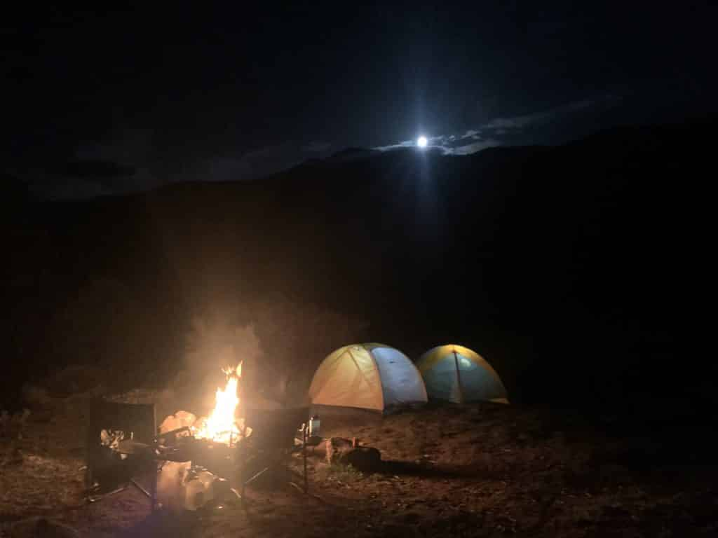 Here is a photo from a camping trip I took down near state bridge this past weekend with the full moon rising. Then there is two photos I took out at mad creek trail last week hiking with my buddy's dog Big Red.