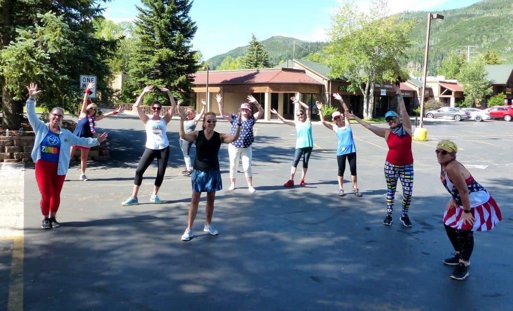 Here are a few pictures of the Zumba girls who were dancing for the drive-through at Sundance Plaza. We had so much fun!