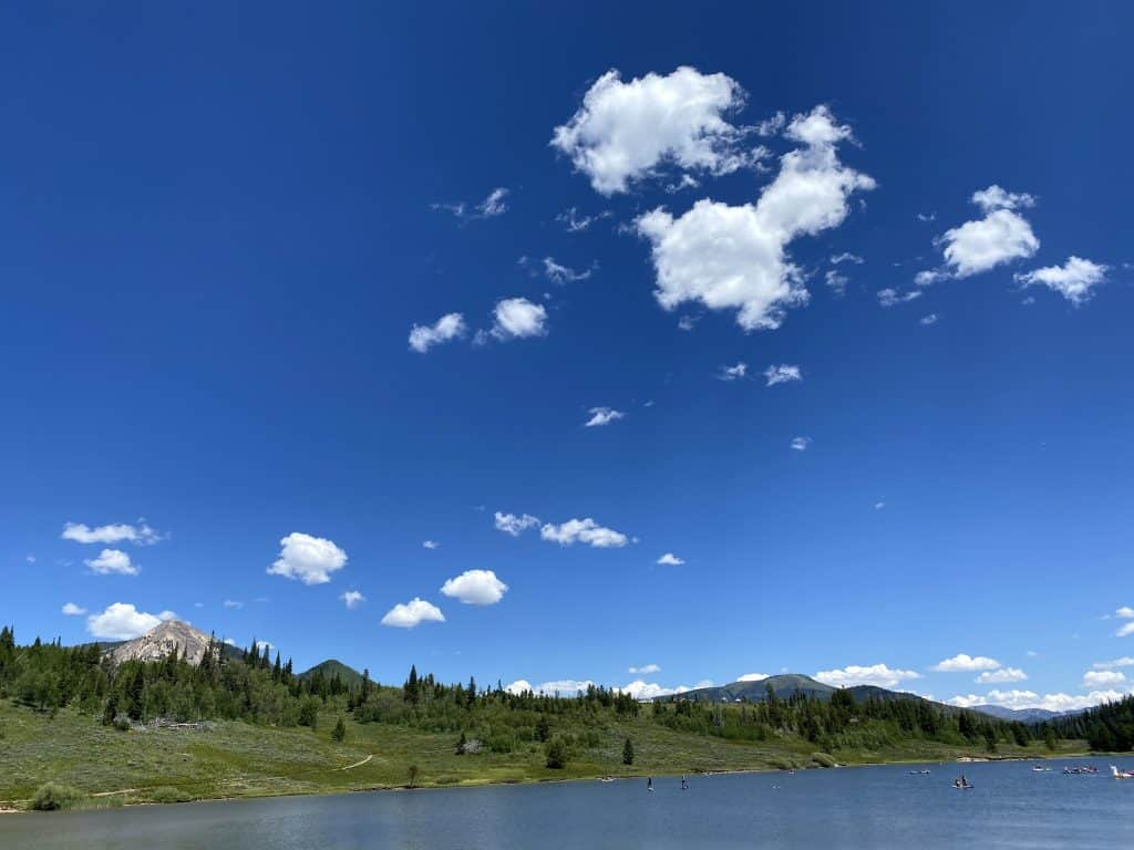 It is a beautiful day at Steamboat Lake today. Steamboat Lake has fireworks Saturday night!