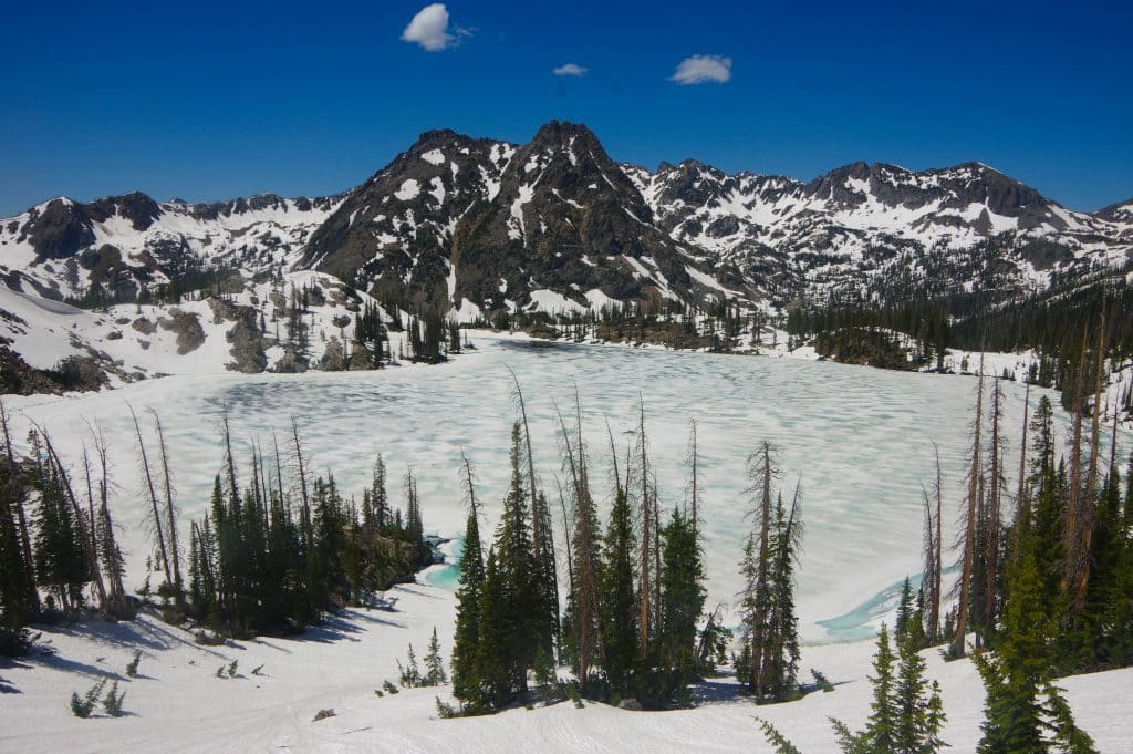 The snow is still melting on the Zirkel Circle, at Gilpin Lake