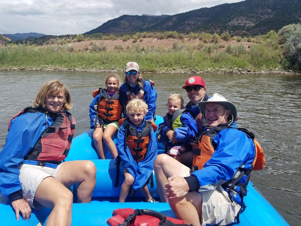 A family rafting trip on the Colorado River.