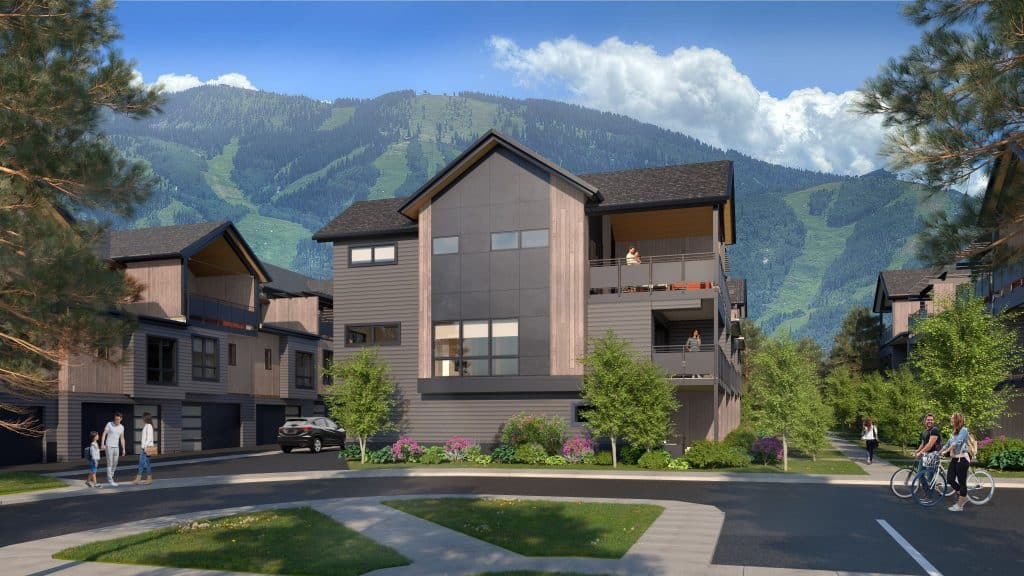 Elevate at Wildhorse Meadows is a new rowhome development within walking distance to the Wildhorse Gondola.