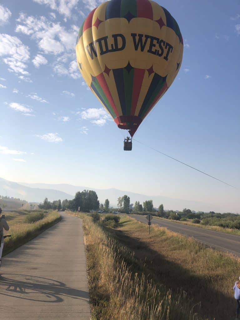 Hot air balloon in Routt County