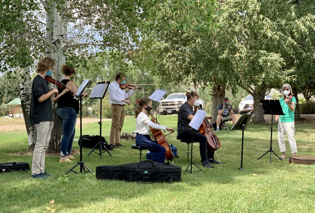Students from Emerald Mountain School, Steamboat Mountain School, and Steamboat Springs High School treated residents at the Haven Assisted Living Facility with some Vivaldi, Beethoven, and other classics this past weekend.