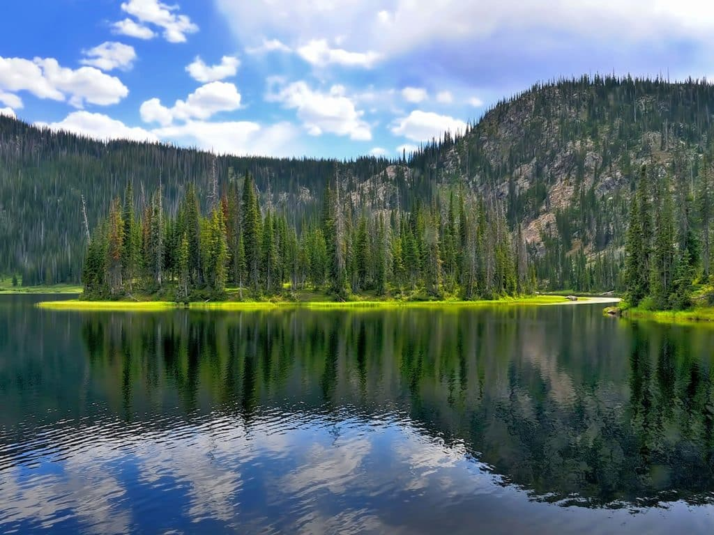 Three Island Lake in the Mount Zirkel Wilderness Area