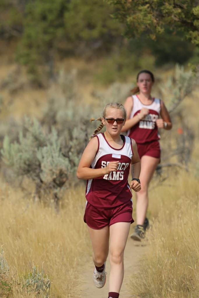 Here are a couple of shots from the 5K run in Meeker today.  Meeker hosted the event and Rangely participated as well.  Alex Colby of SOROCO won the boy's race while Larhae Wayley led the girls with a second-place finish.  You would have to get with their coach if you need additional information.  Thanks.