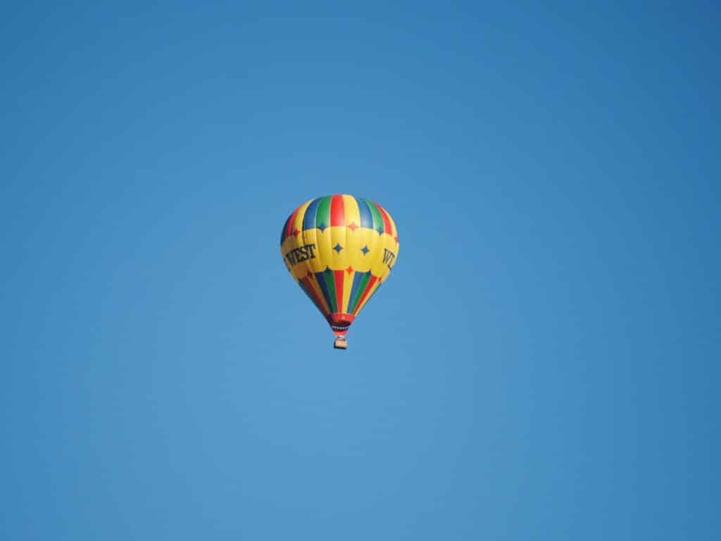 BEAUTIFUL BLUE SKY and BALLOON