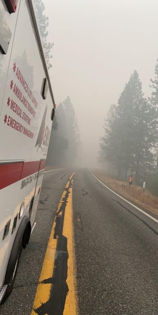 Hayden based EMS Unlimited is wishing the best and a safe return for our ambulances and staff supporting wildfires in Northern California and Colorado.