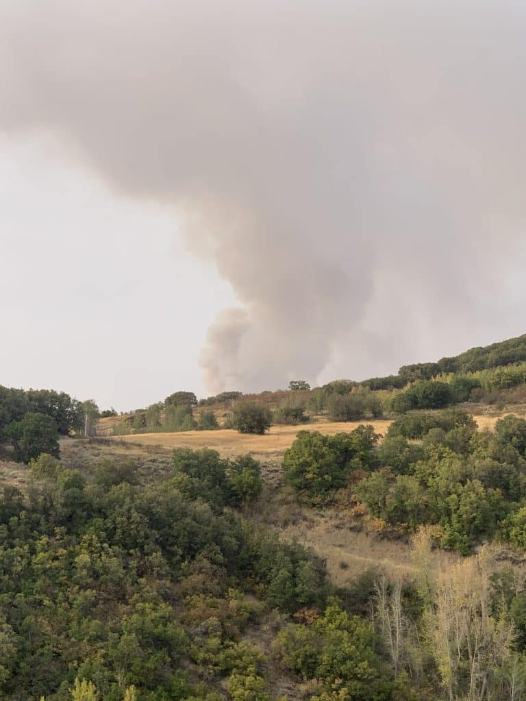 Middle Fork Fire from Fish Creek neighborhood in Steamboat Springs.
