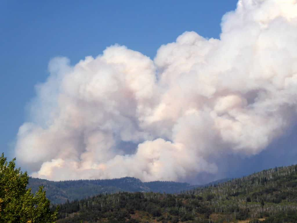 Middle Fork Fire Taken from Strawberry park 4pm 09/07/20