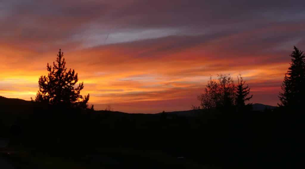 Here's a pretty shot of the sunset tonight, taken from Steamboat Blvd. in Steamboat Springs.