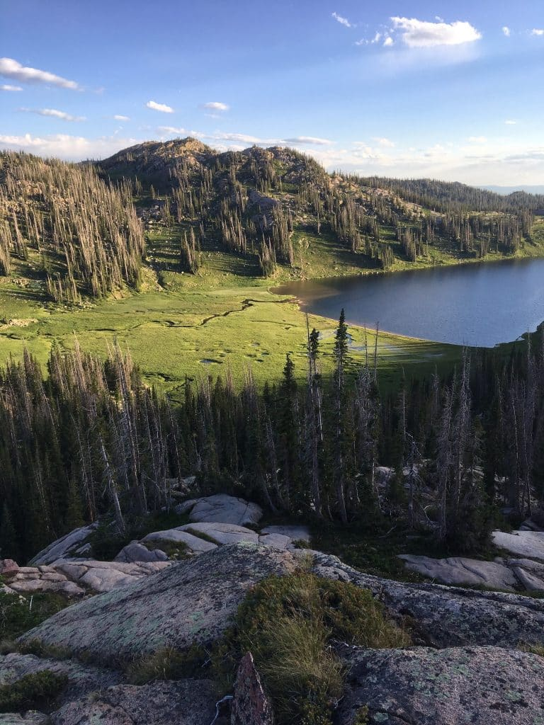 Luna Lake from Lake of the Crags above Lake Margaret Mad Creek Aug 2019