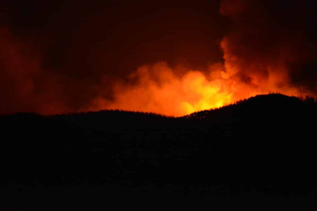 Middle Fork fire 8pm 9/15/20 from Clark