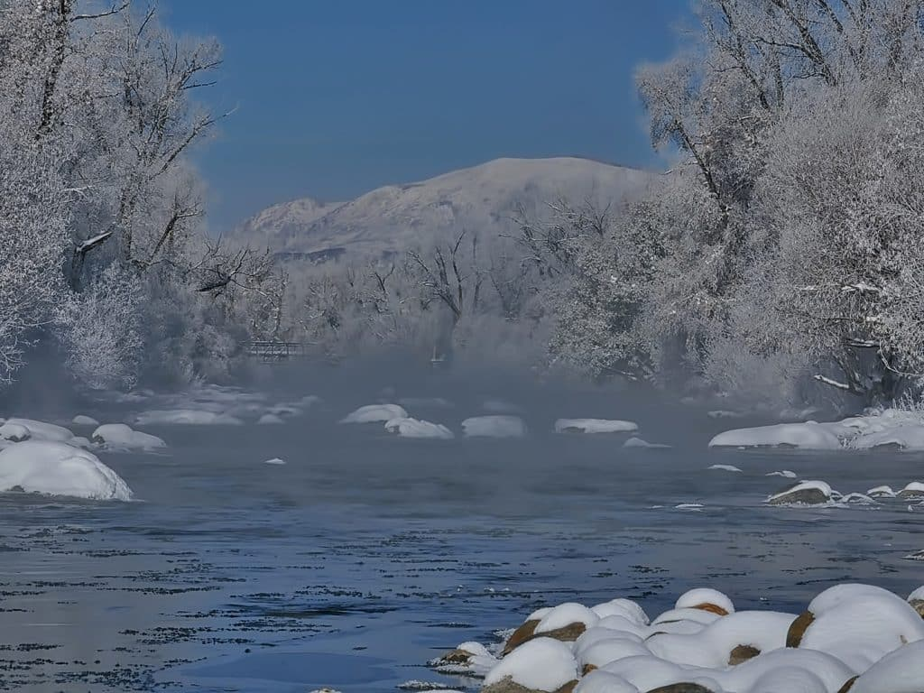 Frosty morning on the Yampa River