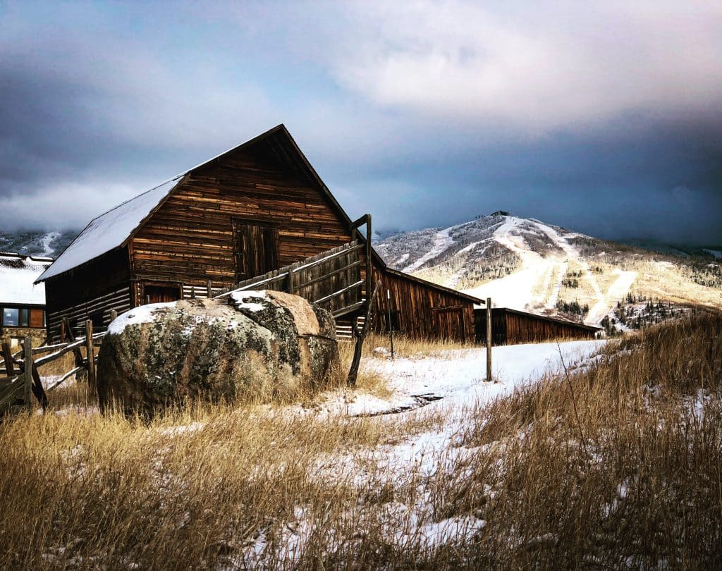 The iconic More Barn in Steamboat Springs.