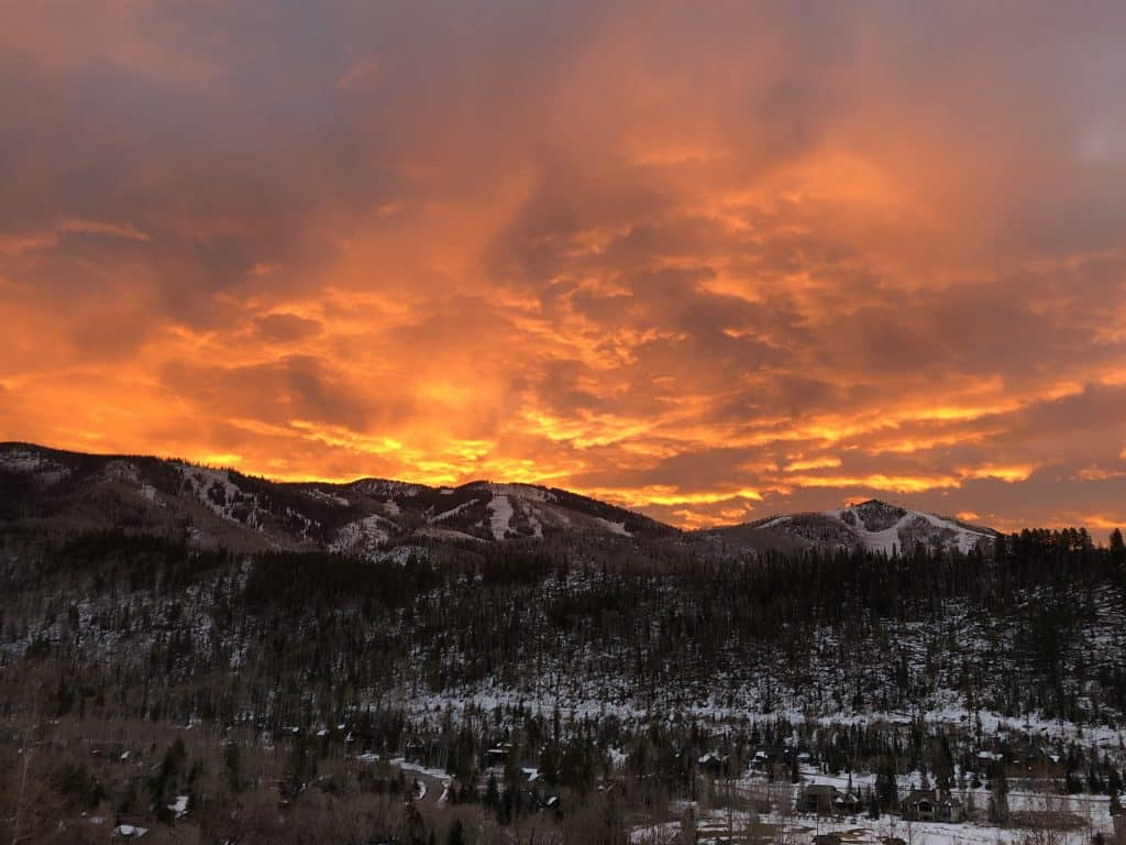 Spectacular sunrise over Steamboat