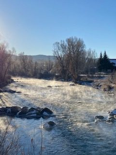 The Yampa on a cold morning