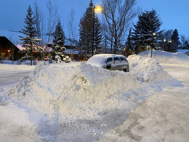 Think the plow guy was a little upset about the car in the overnight parking lot?