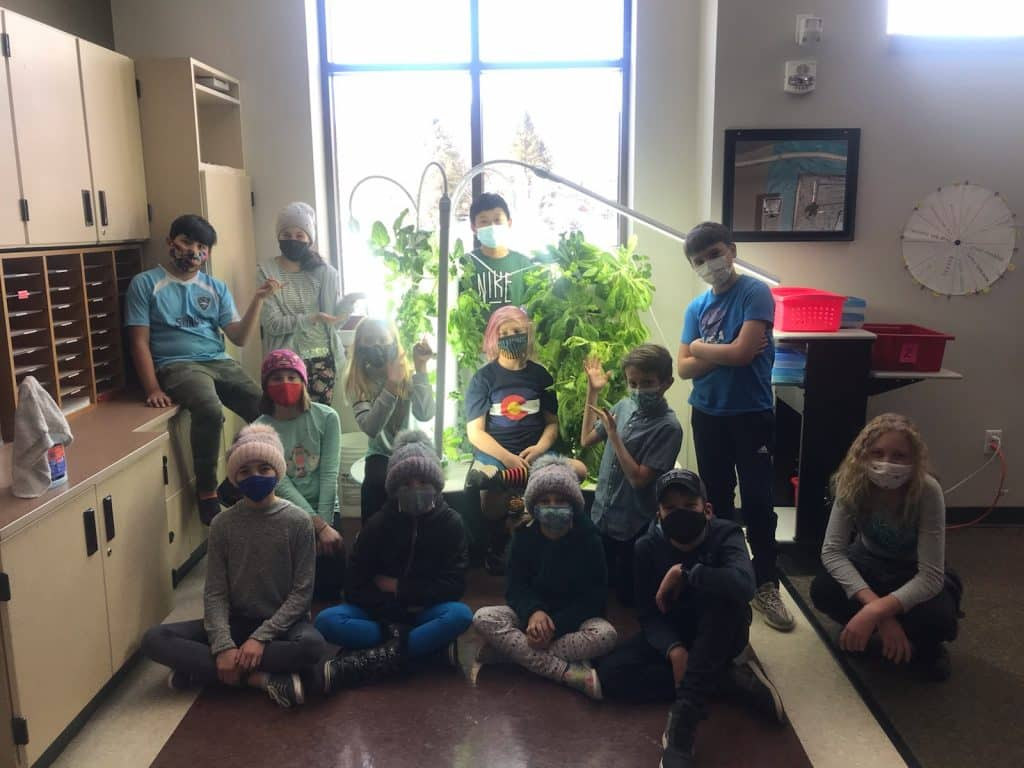 After 75 days of indoor growing on 2 of Lift Up Food Bank\'s Tower Gardens, Danielle Skov\'s 5th graders harvested 6.5 lbs of lettuce, kale, and basil for families in need! Lift Up has 4 Towers currently in growth but no where to grow them, so we asked the community to grow for us!